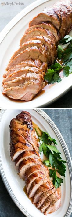 Grilled Pork Tenderloin with Orange Marmalade Glaze - Grilled pork tenderloin topped with a tasty orange marmalade glaze