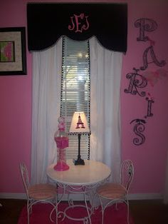 Unexpected Necessities: Jancie's girly Paris bedroom and bath