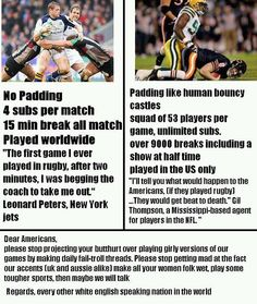 Rugby VS Football....Always making this argument!!! Nigga nfl players try rugby.