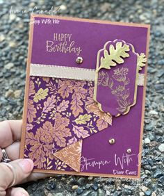 Happy Birthday Diane, Christmas Trimmings, Fall Cards, Stampin Up Cards, Blackberry, Free Gifts, Bliss, Birthday Cards, Card Making