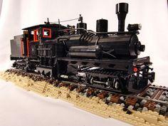 Lego Shay Logging Locomotive Sculpture | Flickr - Photo Sharing!