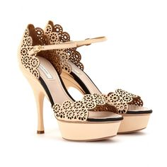 mytheresa.com - Nina Ricci - LASER-CUT LEATHER SANDALS -   Beautiful!!!