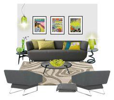 """acid"" by gabidesi ❤ liked on Polyvore featuring interior, interiors, interior design, home, home decor, interior decorating, Artek, Artecnica, Crate and Barrel and Voltolina"