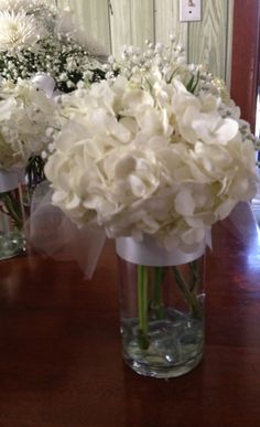 Kyarah's 1st communion centerpieces