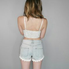 Free People Shorts - Lace Free People Shorts
