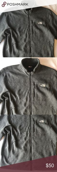 The North Face Men XXL Gray Fleece Full Zip Jacket Super nice condition! No holes, rips or stains.  I know it is summer, but you need to get that Fall wardrobe going! Pet Free, Smoke Free Home! The North Face Jackets & Coats
