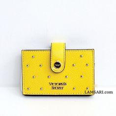 Gold Studs, Card Case, Victoria's Secret, Wallet, Yellow, Leather, Purses, Diy Wallet, Purse