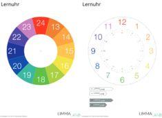 Uhrzeit lernen Kinderuhr mit Klappfunktion www.limmaland.com