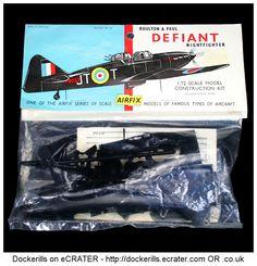 Airfix Boulton Paul Defiant Vintage Type 2 Bag Kit. 1/72 Scale. Produced c. 1959-1963. #Airfix
