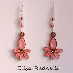 Paper Quilled Earrings por ElysianMeraki en Etsy