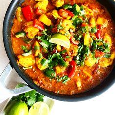 bilde (109) Indian Food Recipes, Ethnic Recipes, Paella, Vegetable Pizza, Wok, Nom Nom, Vegetables, Veggies, Indian Recipes