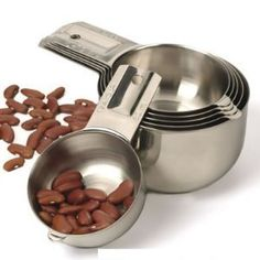 RSVP Stainless Steel Nesting Measuring Cup Set