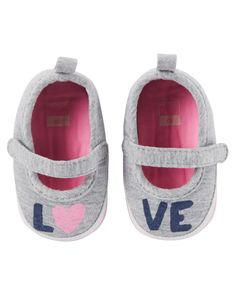 Baby Girl Carter's Mary Jane Sneaker Crib Shoes   Carters.com