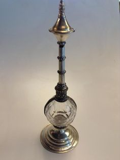 Moroccan Perfume Rose Water Dispenser Bottle in Alpaca by Morokko, $35.00