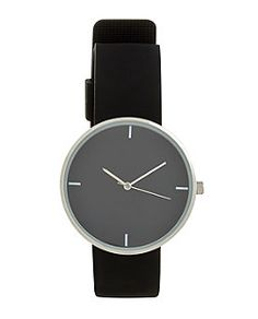 Black Silicon Watch  | New Look