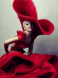 Gaga by Annie Leibovitz for Vanity Fair, 2012