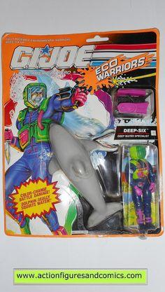 gi joe DEEP SIX eco warriors dolphin vintage action figures hasbro toys moc mip mib