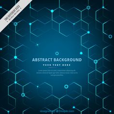 Technological background with hexagons Free Vector Background Design Vector, Background Patterns, Vector Design, Book Design Layout, Graphic Design Layouts, Ui Portfolio, Hexagon Vector, Diagram Design, Hexagon Pattern
