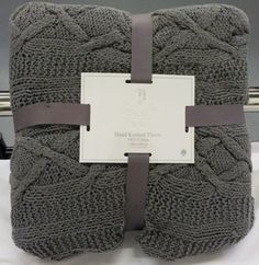 Silver Grey Aran Cable Knit 100 Cotton Heavyweight Throw 140 X 190 Cute Packaging, Packaging Design, Packaging Ideas, Bread Packaging, Small Crib, Cute Puns, Cotton Quilts, Knitted Blankets, Fun Projects