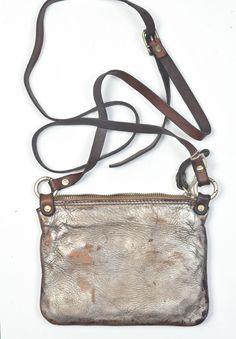 Campomaggi Tracolla Cross Body Bag in Silver