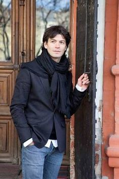 Stephane Lambiel - lovely off-ice picture. Male Figure Skaters, Figure Skating, Ice Pictures, Stephane Lambiel, Adam Rippon, Johnny Weir, Celebrity Crush, Turtle Neck, Celebrities