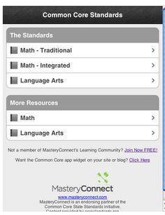 FREE - Common Core Standards Short Cut