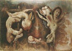 Marcelo Bordese - Pesebre (homenaje al marques de sade) - Acrilico sobre tela 2004