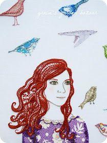 Gracie's Garden Bazaar: Embroidery portraits