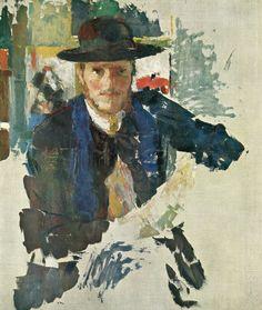 """thunderstruck9: """"Rik Wouters (Belgian, 1882-1916), Portrait de Rik à la veste de velours noir [Portrait of Rik wearing a black velvet jacket], early 1909. Oil on canvas, 66.3 x 55.5 cm. """""""