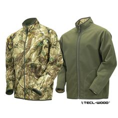 #New #TECLWOODCamo TECL-WOOD Functional Reversible Soft Shell Camouflage Jacket