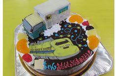 クロネコヤマトトラックとドクターイエローのケーキ | オリジナルケーキ『おぐに』電車・車・キャラクター・似顔絵ケーキ宅配通販
