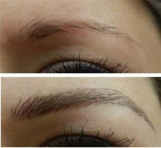 tattooed eyebrows, pictures, close up