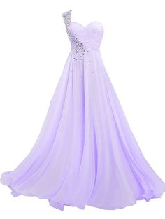 Women's One Shoulder Long Bridesmaid Prom Dresses Sweetheart