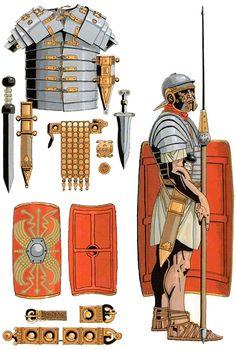 Roman Armor, Pax Romana, Roman Warriors, Roman Legion, Roman Soldiers, Roman History, Armor Concept, Carthage, Ancient Rome