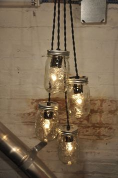 37 best mason jar chandelier images on pinterest ball jars ball 4 mason jar chandelier pendant light aloadofball Image collections