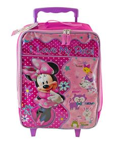 Another great find on #zulily! Minnie 16'' Rolling Luggage by Minnie Mouse #zulilyfinds