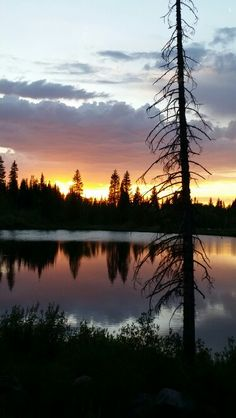 Jumbo Lake on the Grand Mesa, Colorado gorgeous sunset.