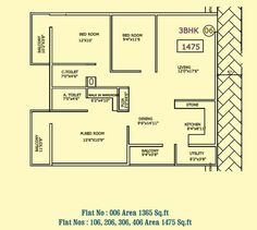 http://www.housedesignideas.us/2-bhk-flat-plan-per-vastu/ .
