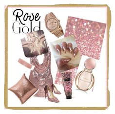 """""""Sparkle pink gold"""" by cinzia-cipriani on Polyvore featuring Rolex, Jimmy Choo, Britney Spears, Victoria's Secret and Bulgari"""