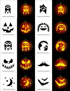 Free Halloween Vectors, PSD, Icons & Party Posters for 2014 Free-Simple-Pumpkin-Carving-Stencils-For-children Scary Pumpkin Carving Patterns, Halloween Pumpkin Carving Stencils, Scary Halloween Pumpkins, Amazing Pumpkin Carving, Pumpkin Carving Templates, Simple Pumkin Carving Ideas, Pumpkin Ideas, Free Pumpkin Stencils, Pumkin Carvings Easy