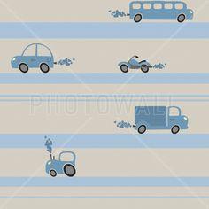 Brum Brum - Blue - Fototapeter & Tapeter - Photowall