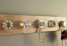 Reclaimed Wooden Jewellery Hook Board - kitchen accessories