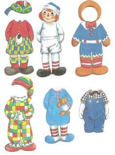 Mostly Paper Dolls Too!: Raggedy Ann & Raggedy Andy Cloth Paper Dolls.