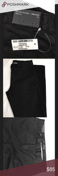 J Brand Brooks black chino trousers pants mens s32 Brand New  J Brand Brooks black slim fit chino trousers pants mens size 32 J Brand Pants Chinos & Khakis
