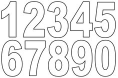Printable Number Cut Outs