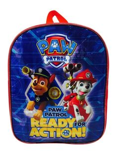 PAW PATROL BACKPACK CHASE & MARSHALL TRAVEL SCHOOL JUNIOR BAG CHILDREN KIDS BLUE in Home, Furniture & DIY, Children's Home & Furniture, Kitchen & Dining | eBay