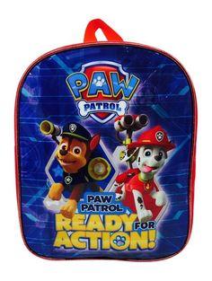 PAW PATROL BACKPACK CHASE & MARSHALL TRAVEL SCHOOL JUNIOR BAG CHILDREN KIDS BLUE in Home, Furniture & DIY, Children's Home & Furniture, Kitchen & Dining   eBay