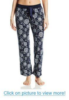 Nautica Sleepwear Women's Floral Print Knit Pant