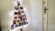 Árvore de natal de fotos ❤️ #natal #Christmas #diy #artesanato #diysdenatal #decoração #fotos #Tumblr