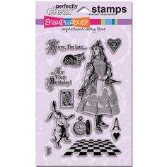 Some favorite icons in #Stampendous Wonderland Perfectly Clear Stamps set! A must-have!! $14.99